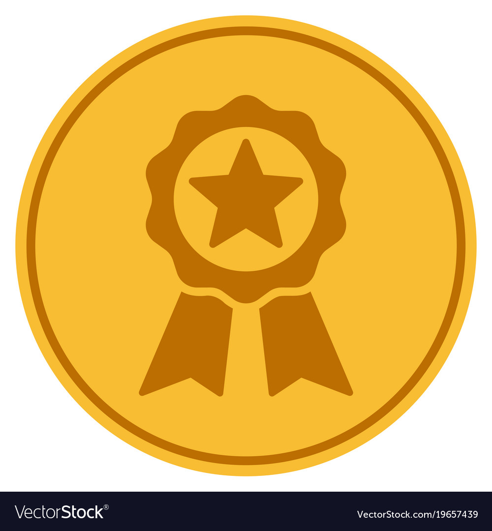 Certificate Seal Gold Coin Royalty Free Vector Image