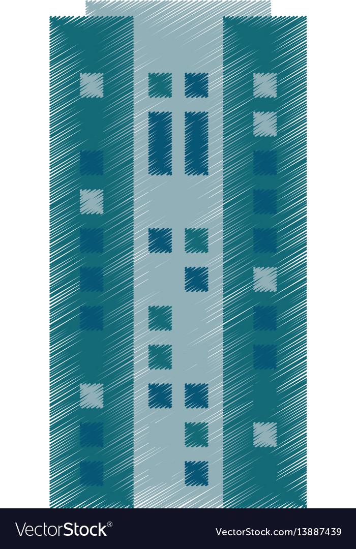Drawing Building Skyscraper Architecture Vector Image