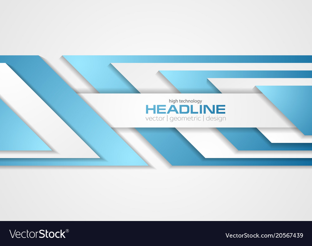 Grey and blue tech abstract corporate background vector image