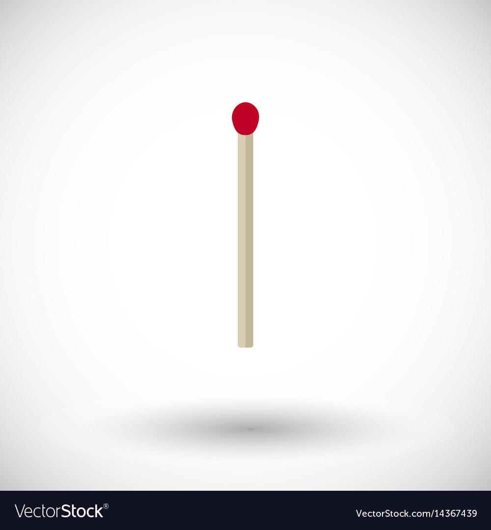 Match stick flat icon