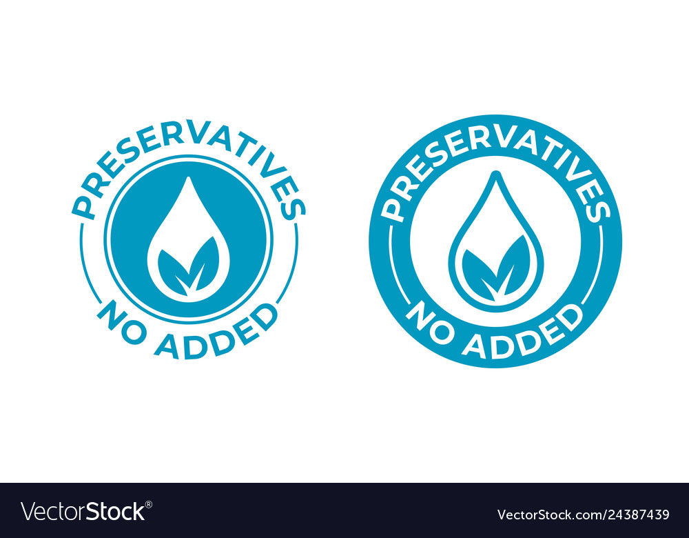 Preservatives no added leaf and drop icon