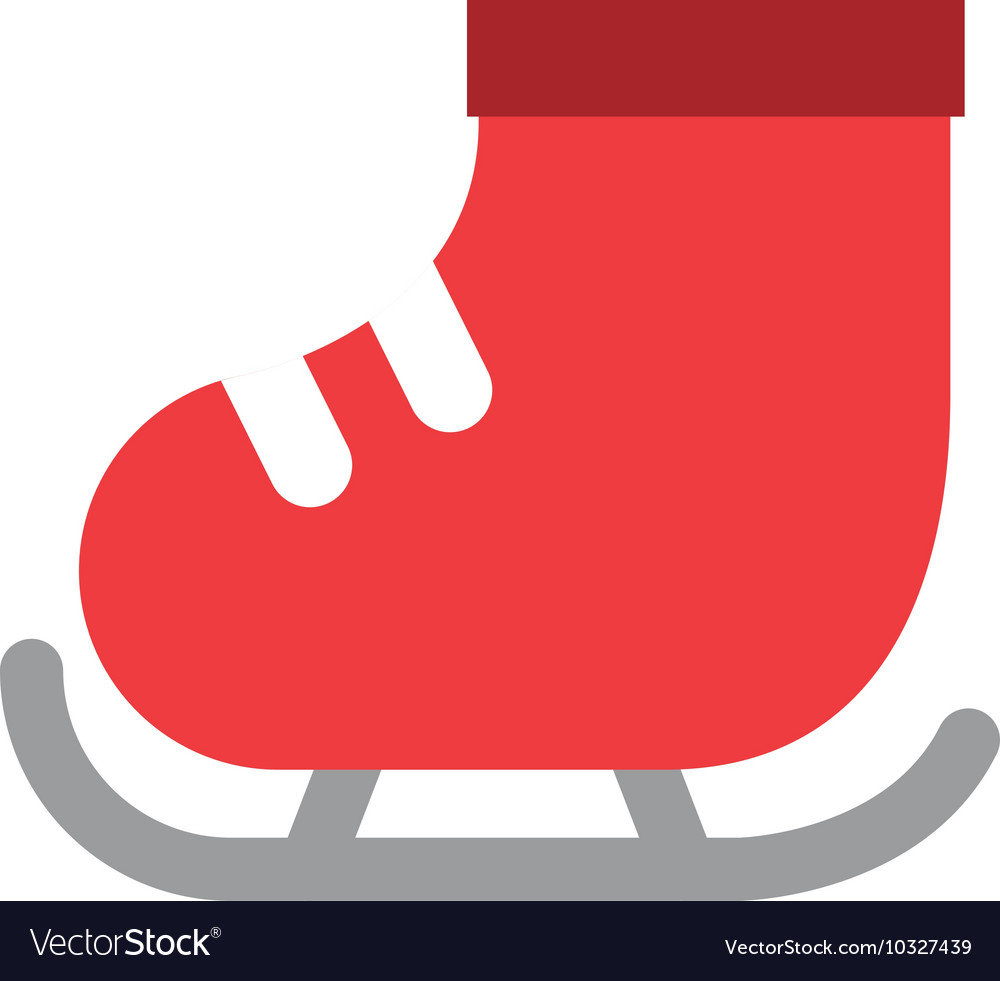 Skate ice isolated icon vector image