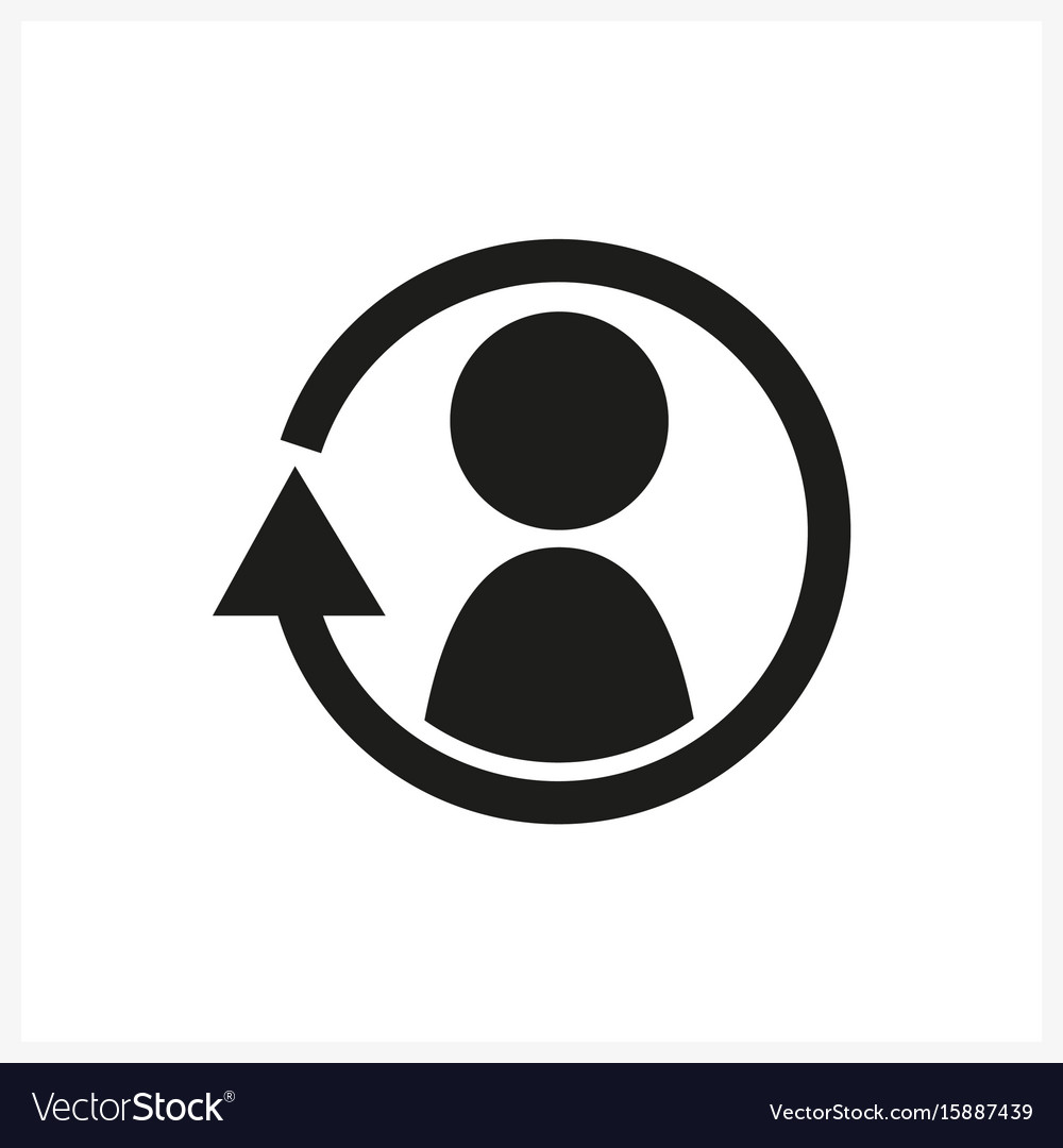 Synchronize update icon with man in the center