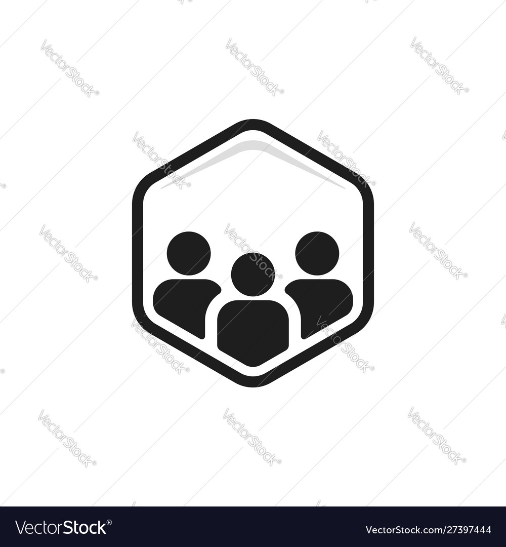 Connect together logo with team work