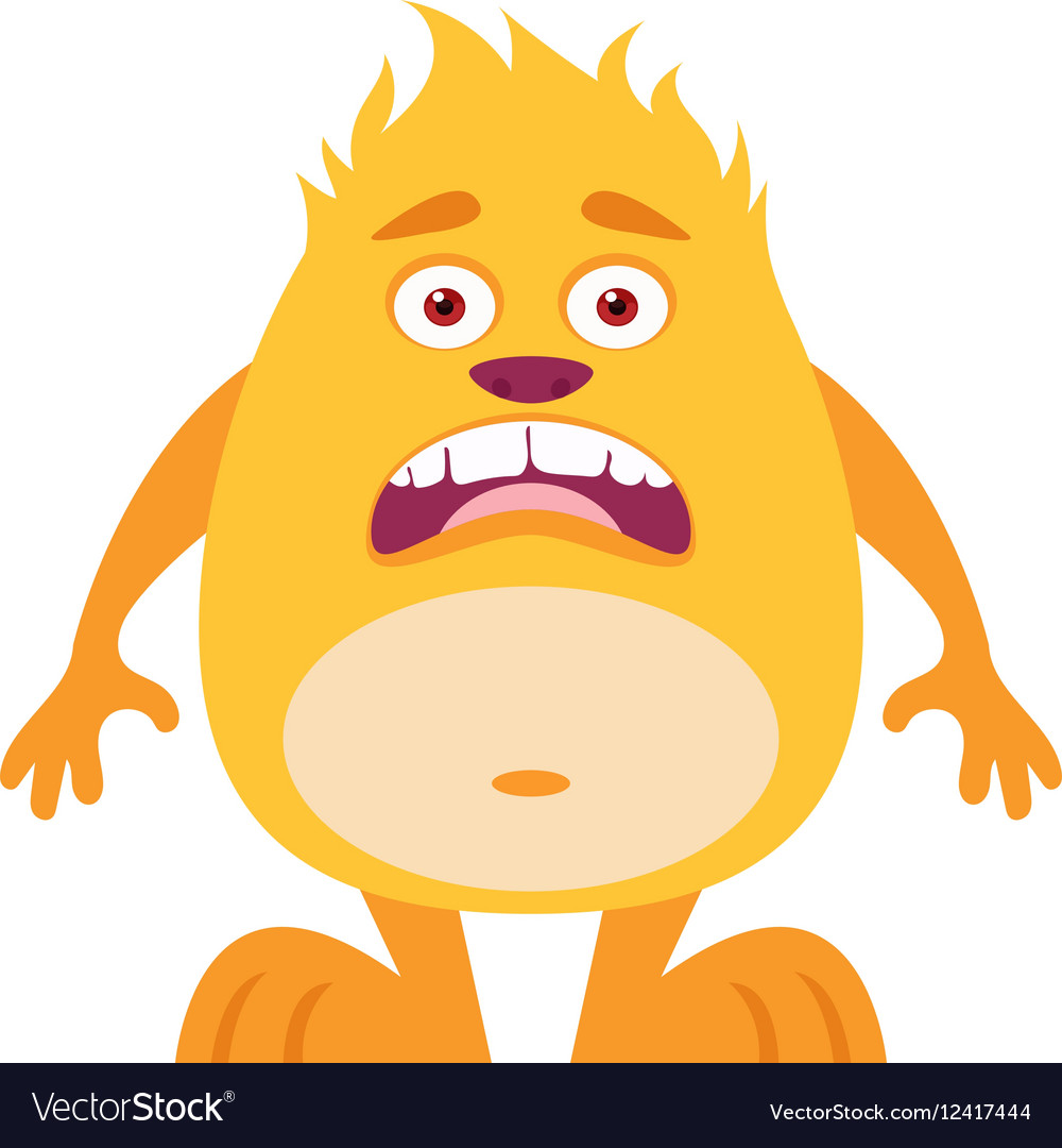 Cute Monster Icon vector image