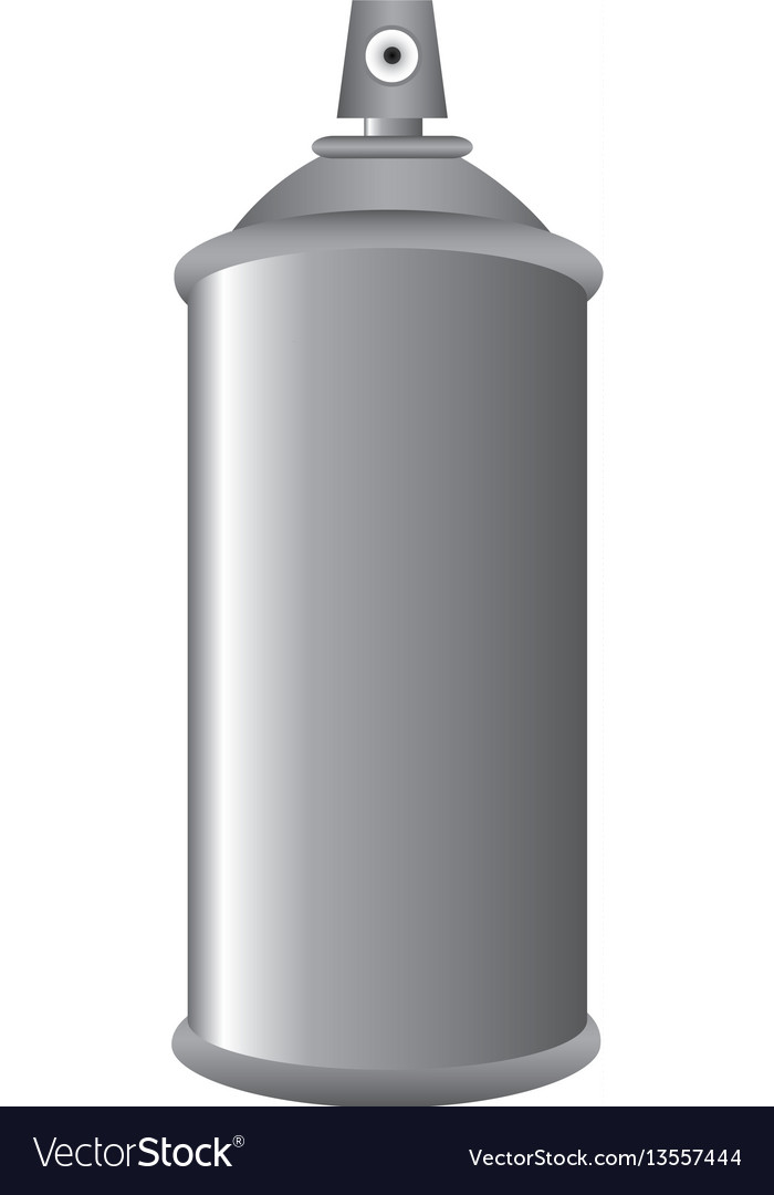 Gray aerosol spray metal 3d bottle can