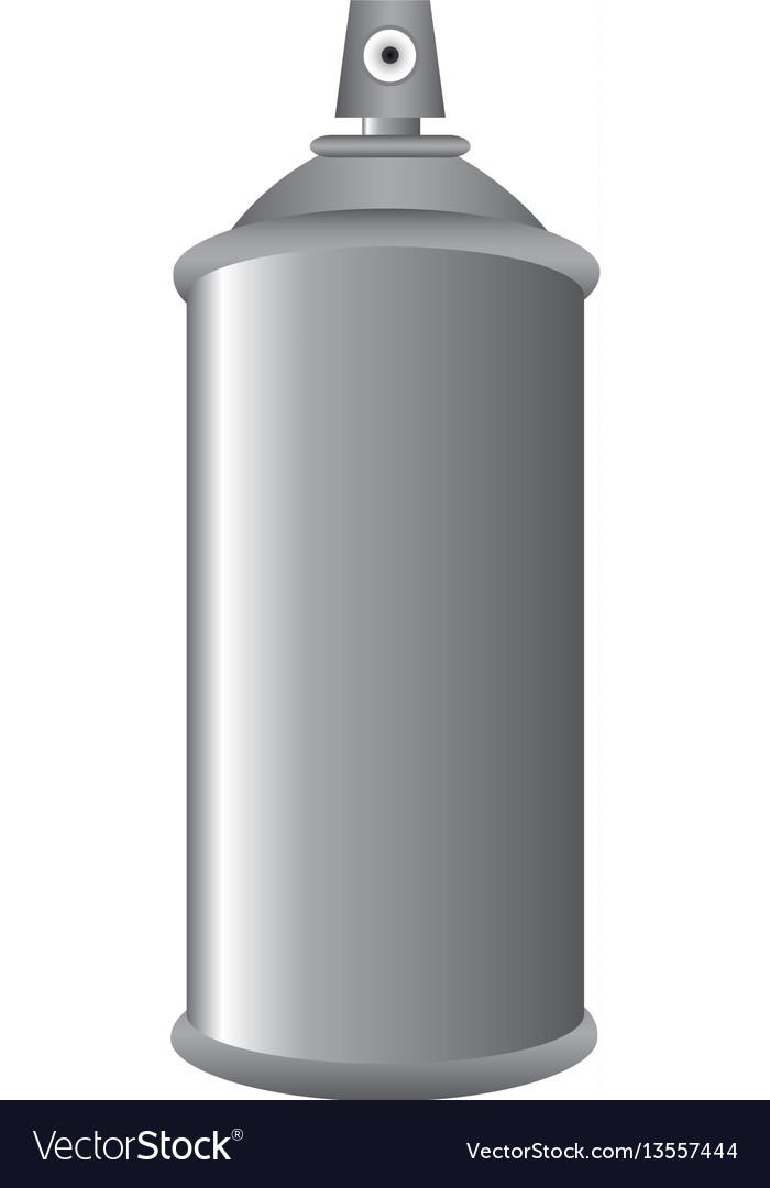 Gray aerosol spray metal 3d bottle can