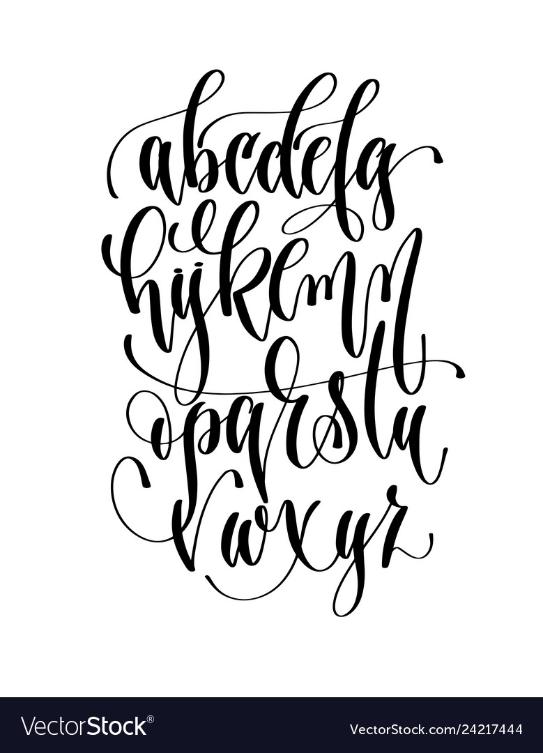 Hand lettering alphabet design