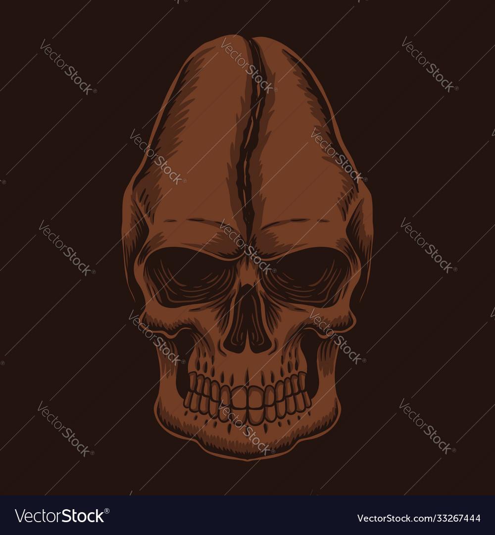 Skull head coffee