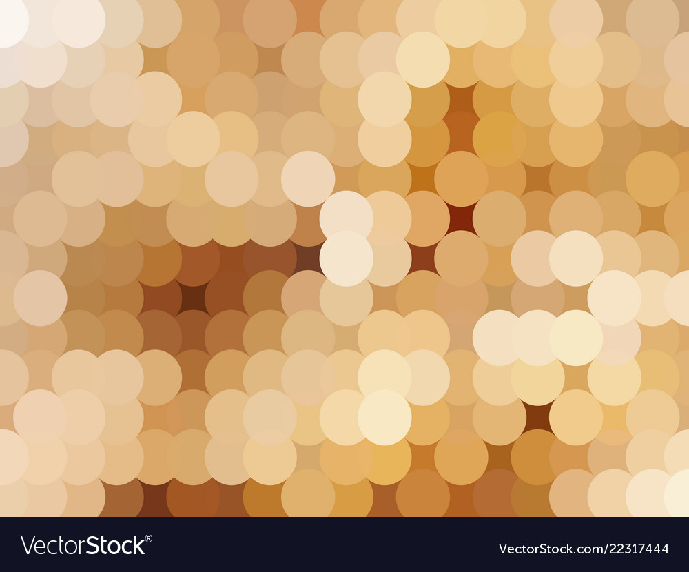 The abstract golden background from circles
