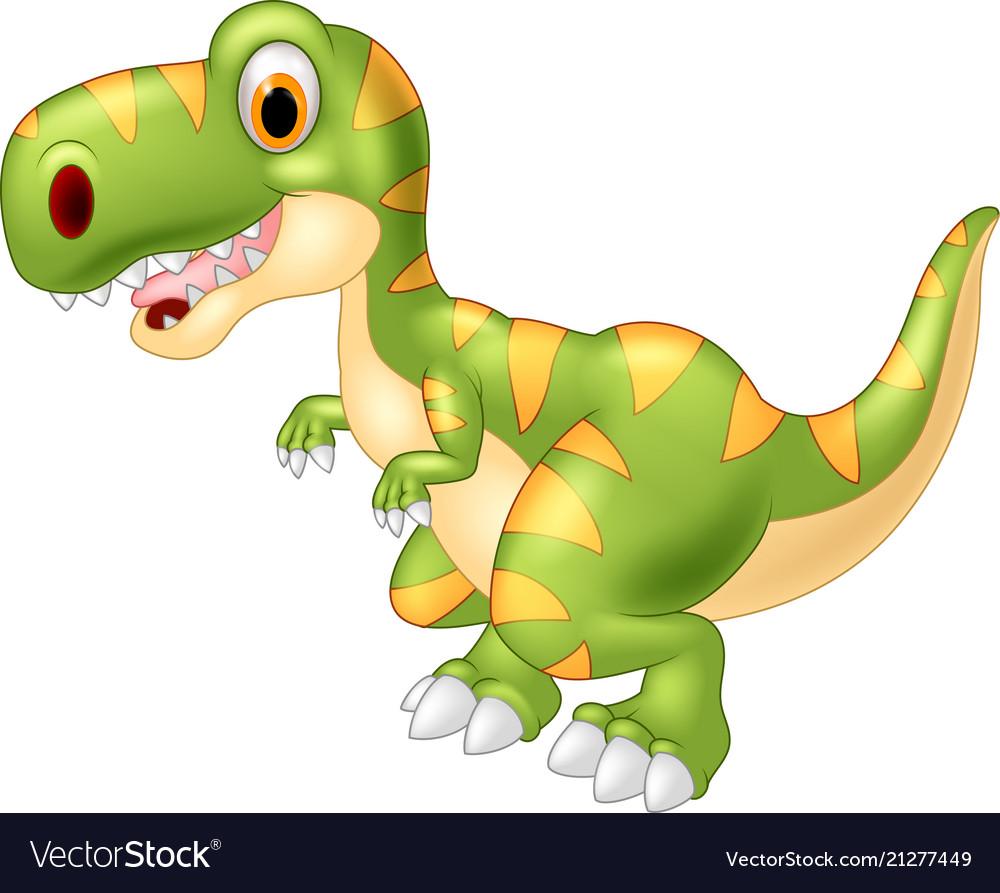 Adorable dinosaur tyrannosaurus isolated on transp