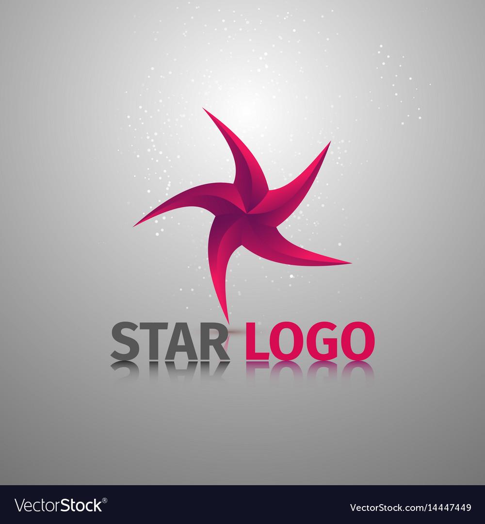 Beauty geometric stylized colorful logotype of