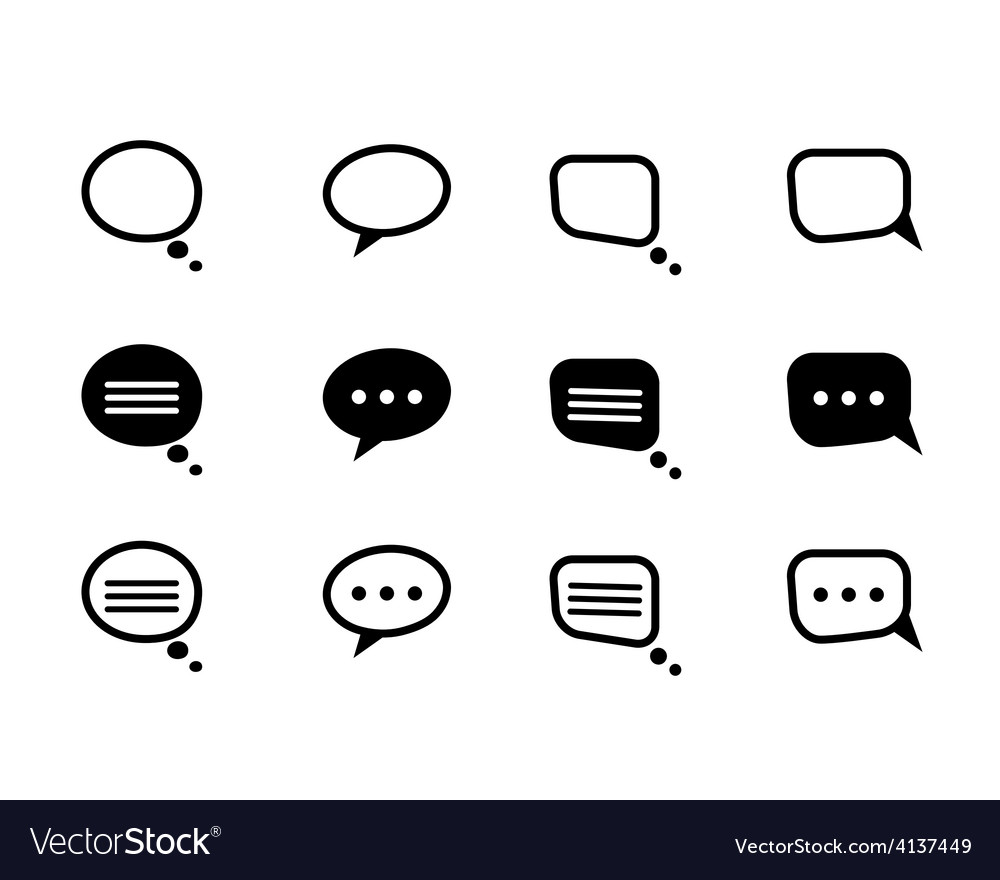 Black and line speech bubble