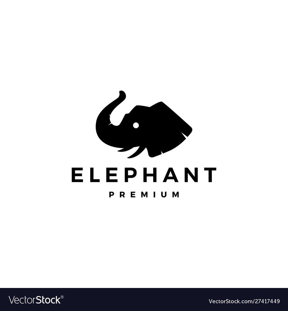 elephant head logo icon royalty free vector image vectorstock