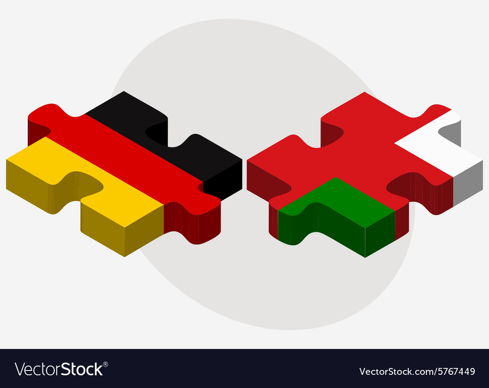 Germany And Oman Flags