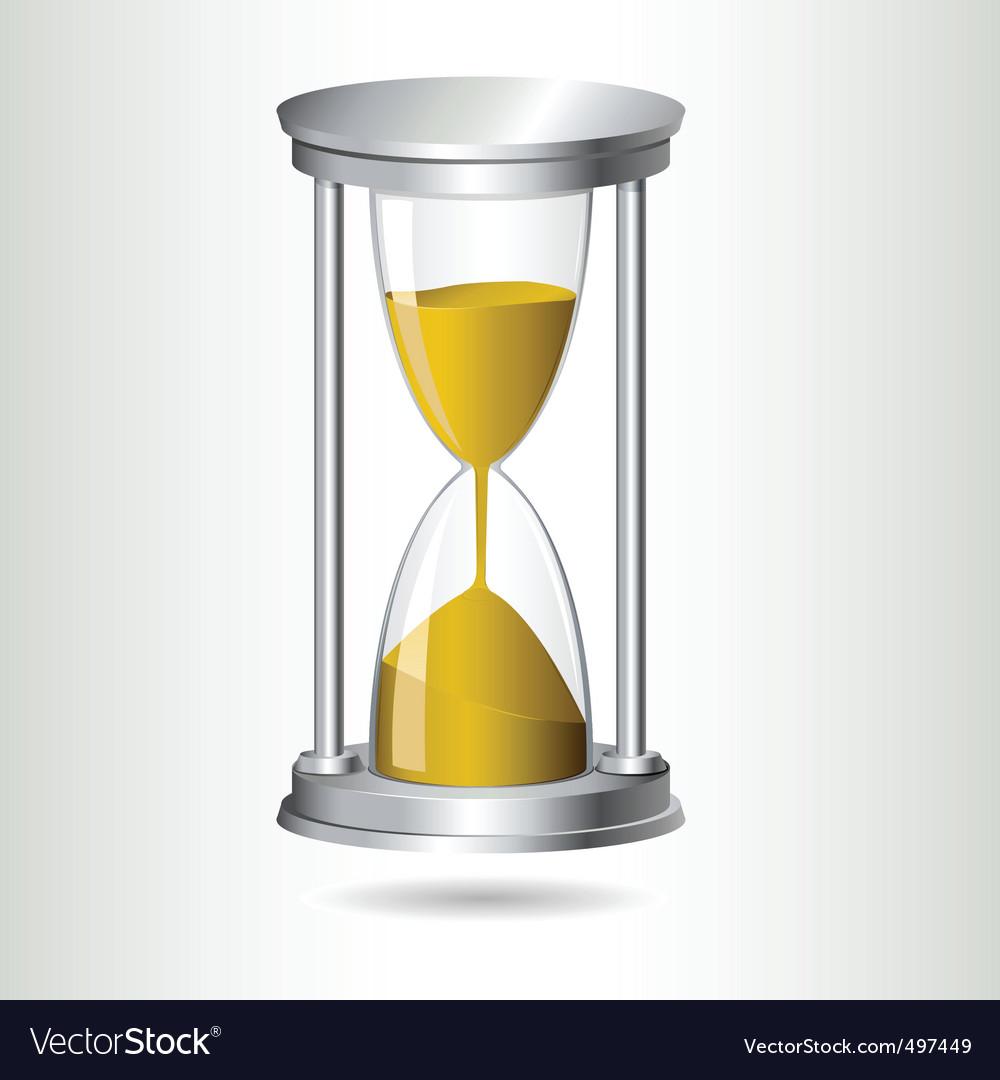hourglass timer royalty free vector image vectorstock
