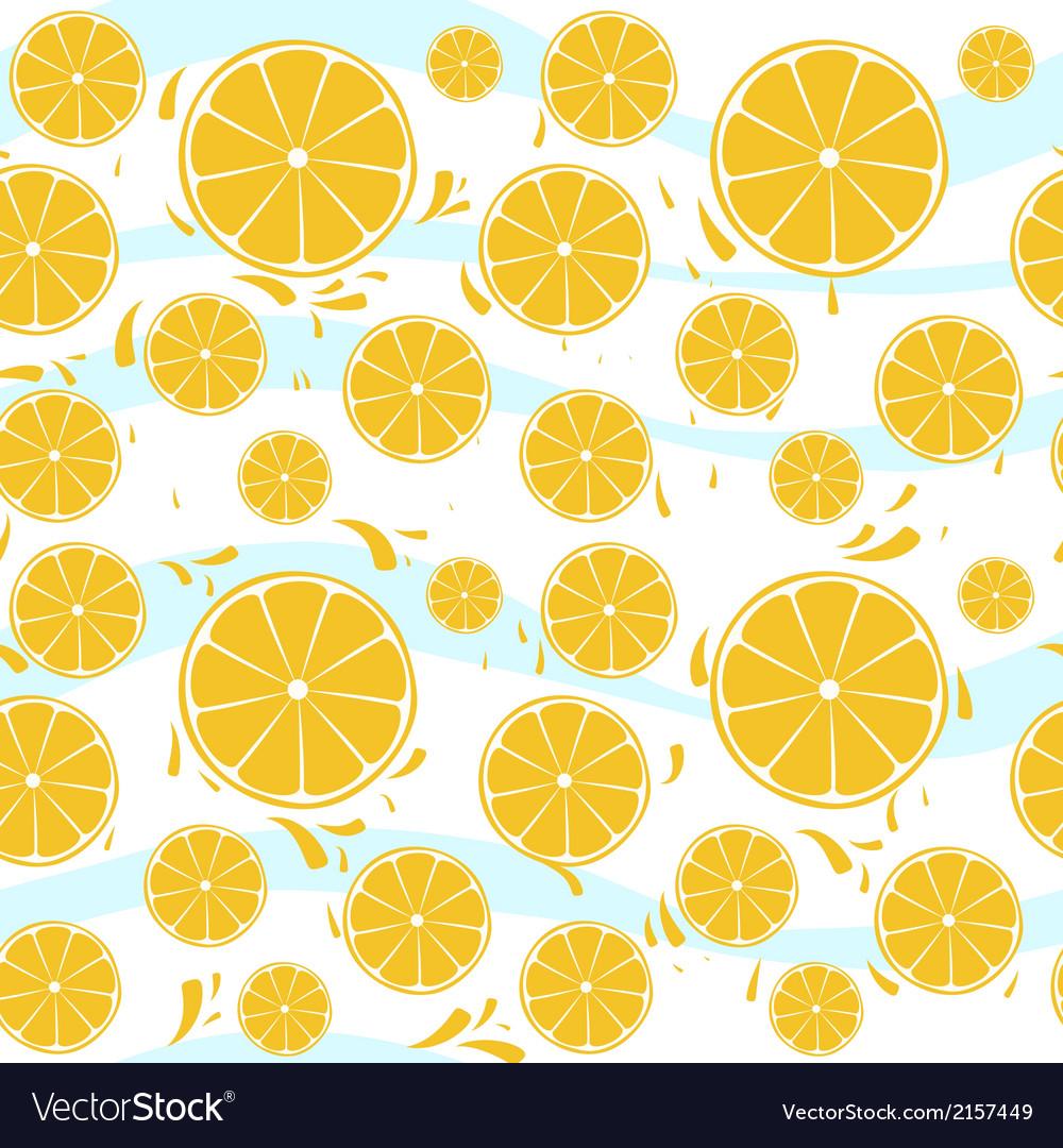 Oranges slices seamless pattern splash