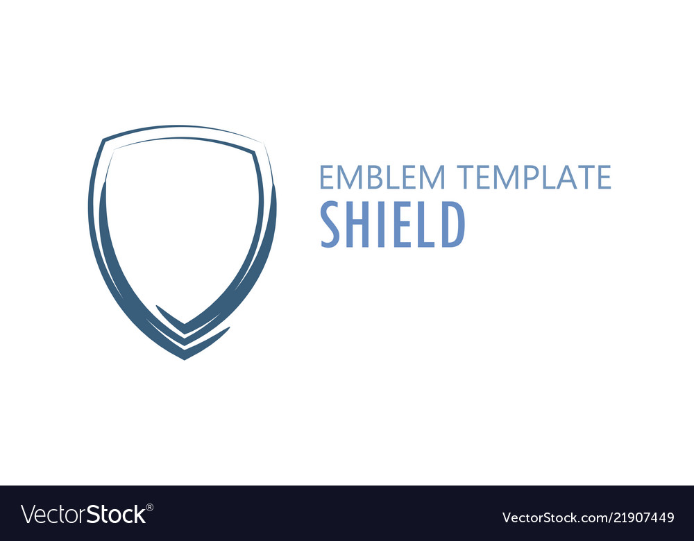 Shield logo on white