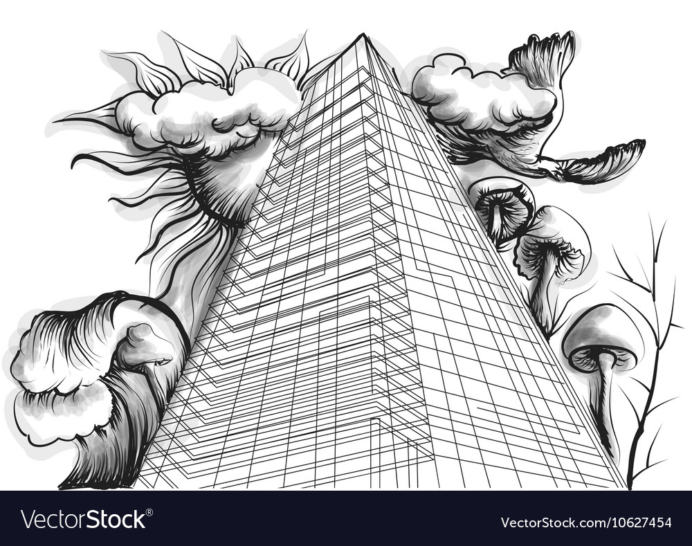 Abstract buildings vector image