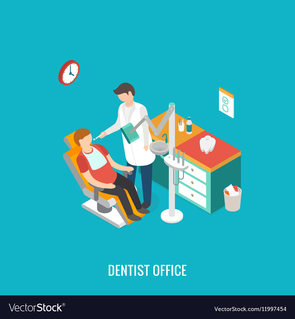 Dentist office during reception patient