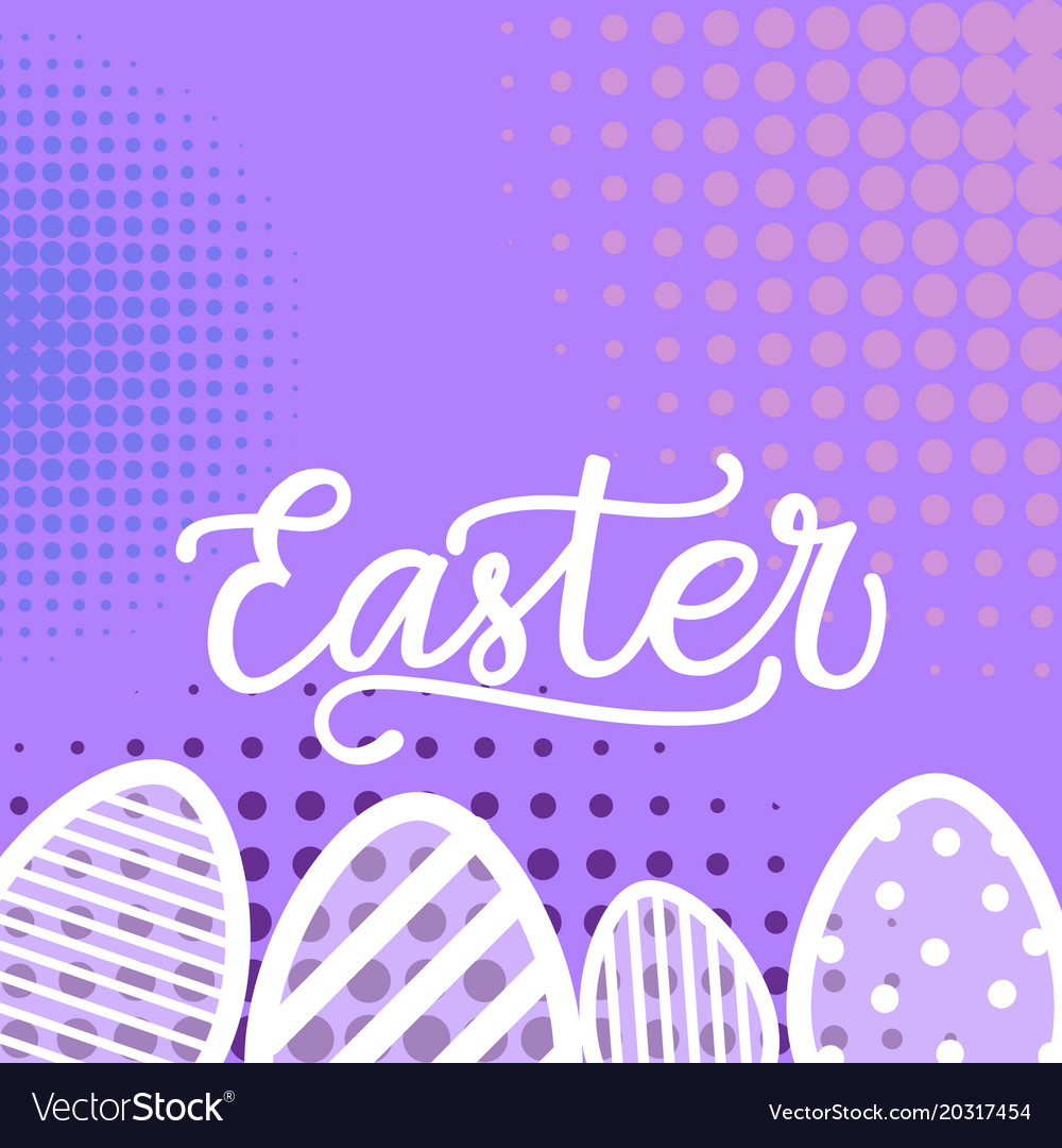 Happy easter background hand drawing greeting card