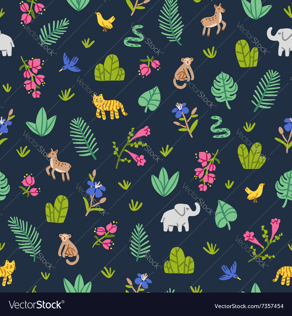Jungle wildlife pattern