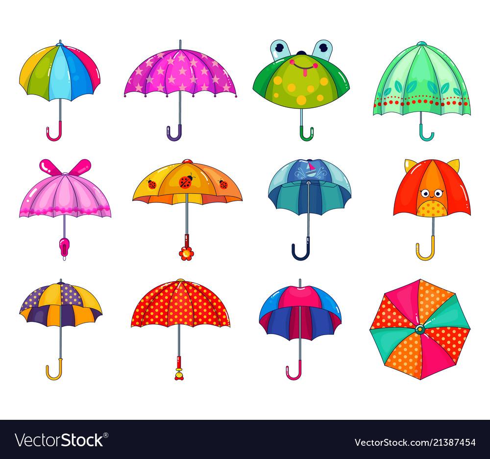 Kids umbrella childish umbrella-shaped
