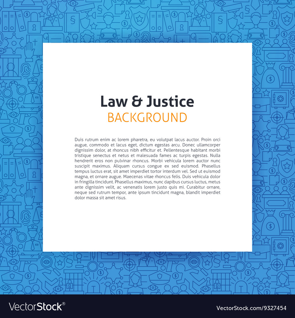 Paper Template Over Law And Justice Line Art Vector Image