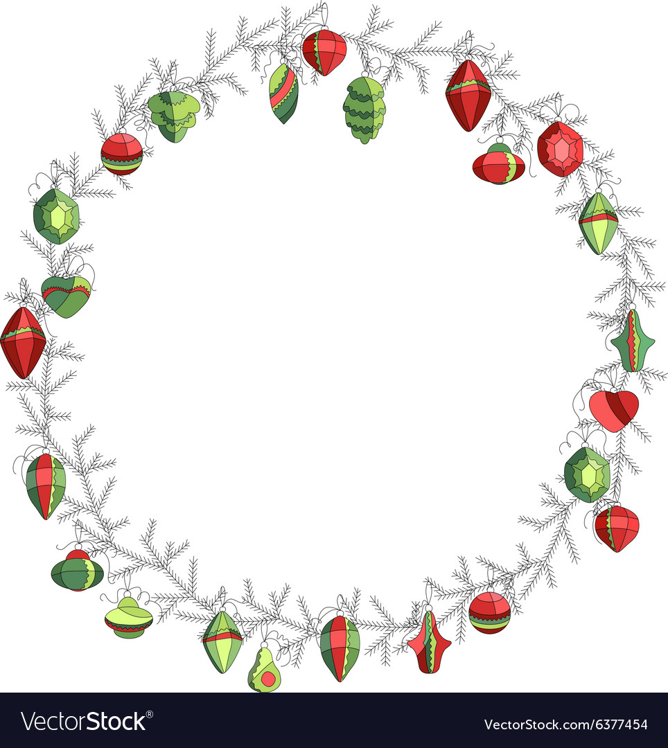Round Christmas on white Simple colors