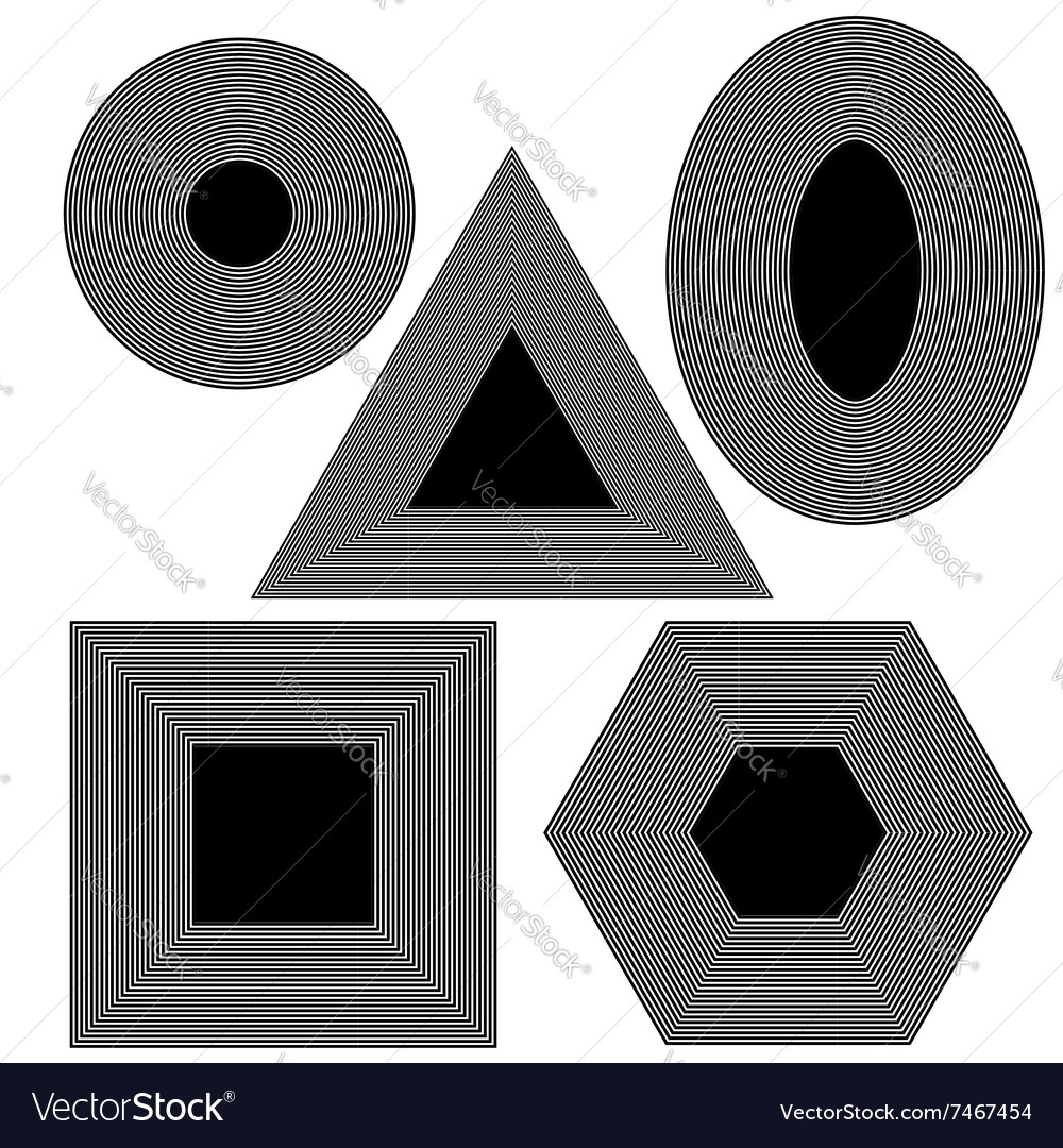 Set f Different Geometric Shapes