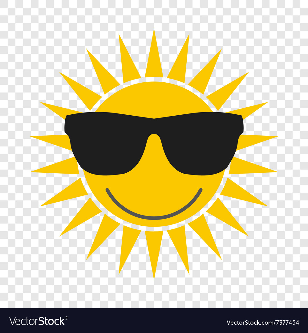 77642058f232 Sun with glasses icon Royalty Free Vector Image