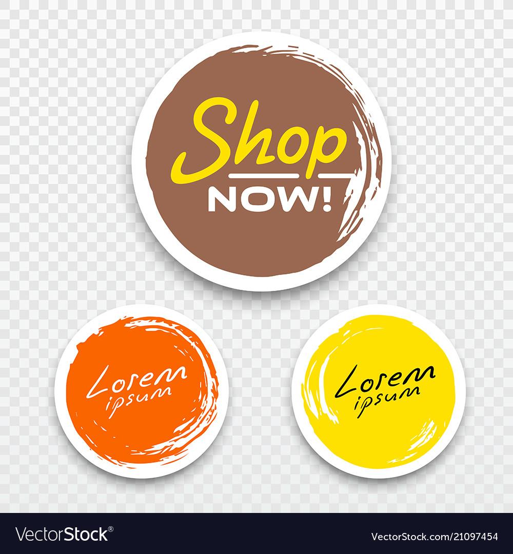 Tag label circle brush stroke style