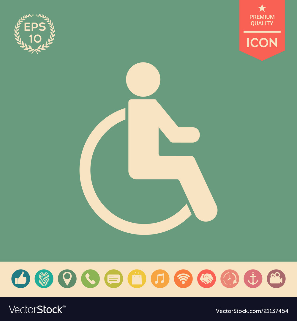 Wheelchair handicap icon