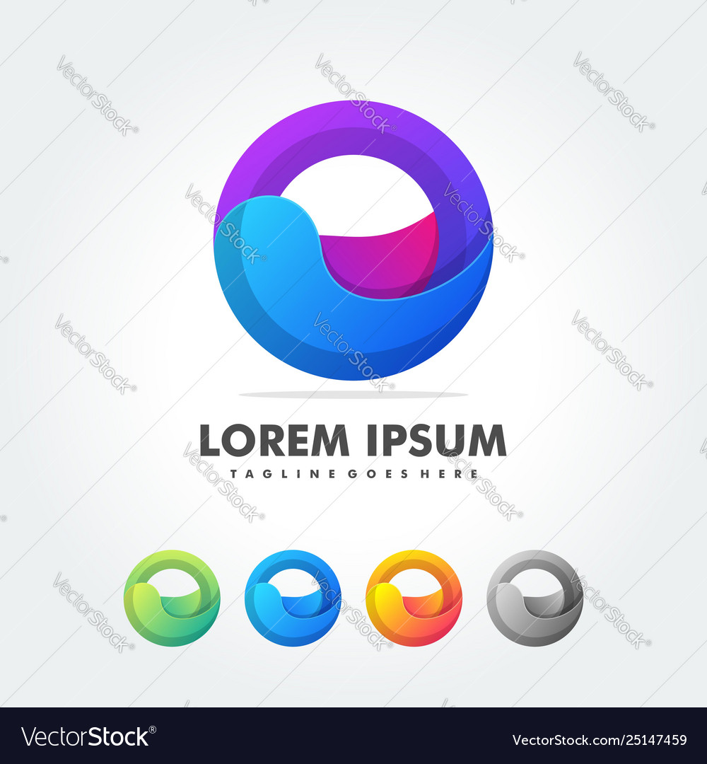 Abstract shapes for trendy logo label icons