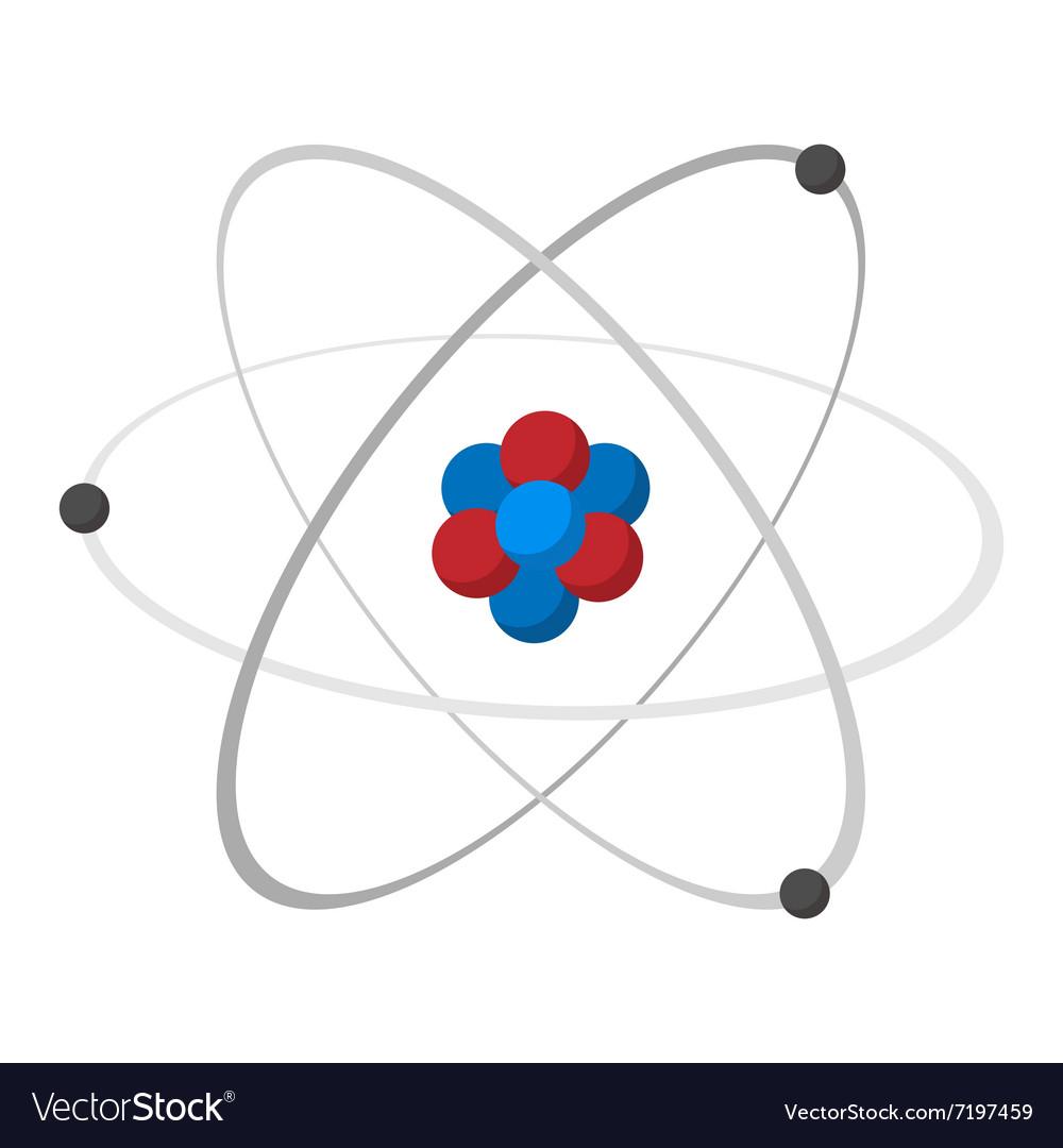 Atom cartoon icon