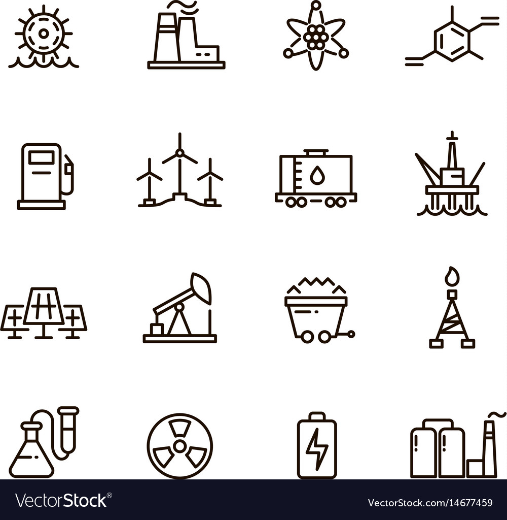 Energy industry and power factory modern vector image