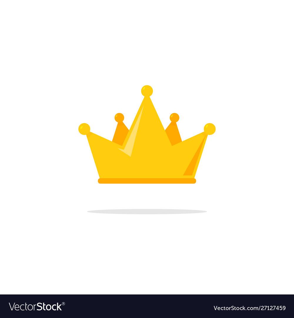 Flat crown king icon queen princess design