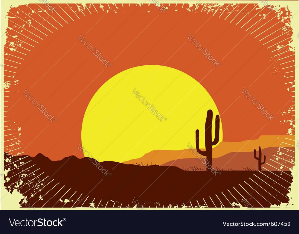 Grunge wild western vector image