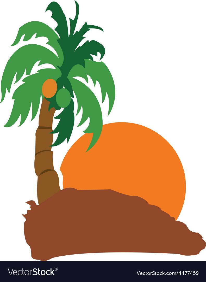 island with coconut icon royalty free vector image rh vectorstock com island vector art island victorian pendant light