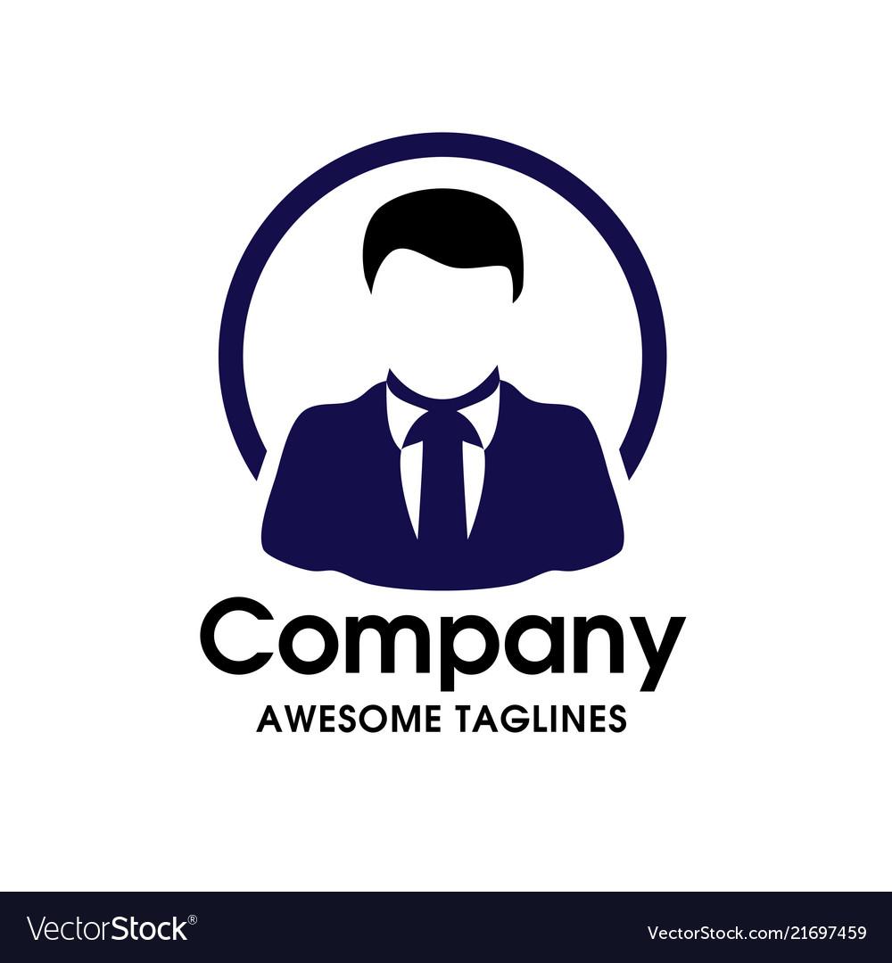 Man with tie businessman flat icon