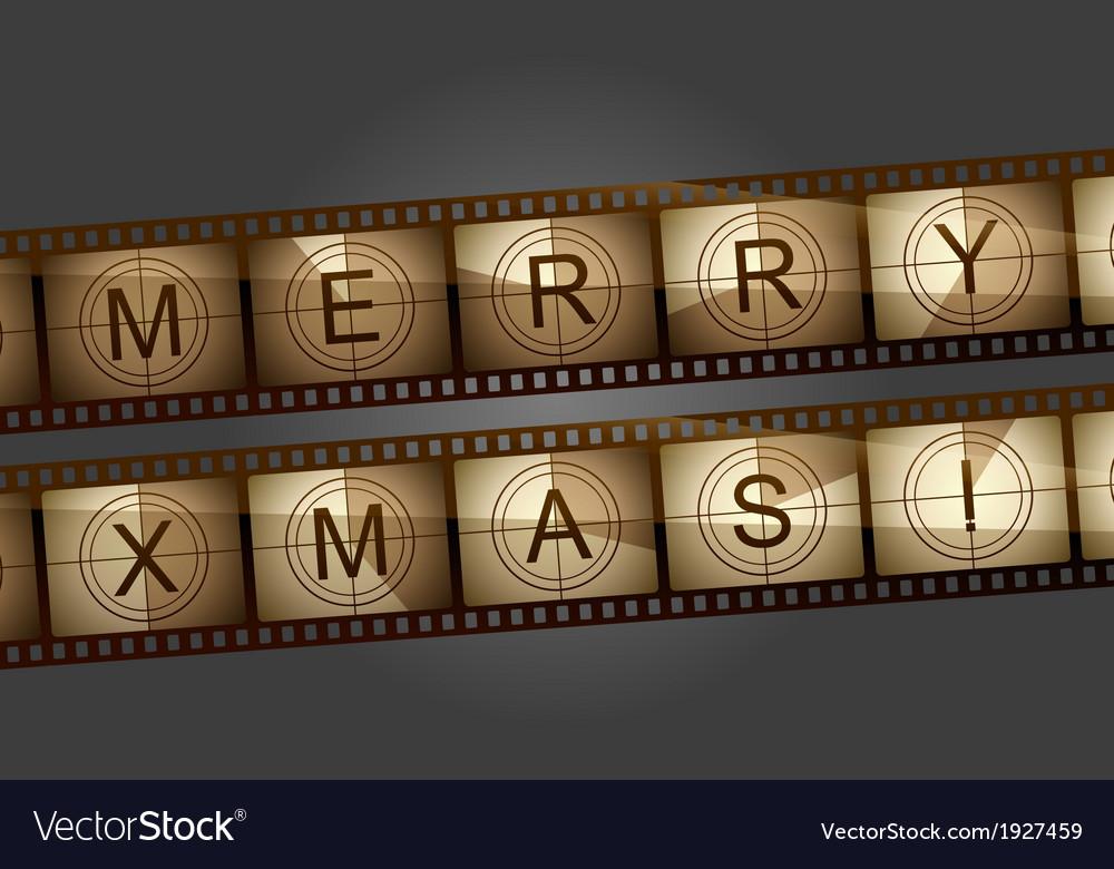 Merry xmas countdown vector image