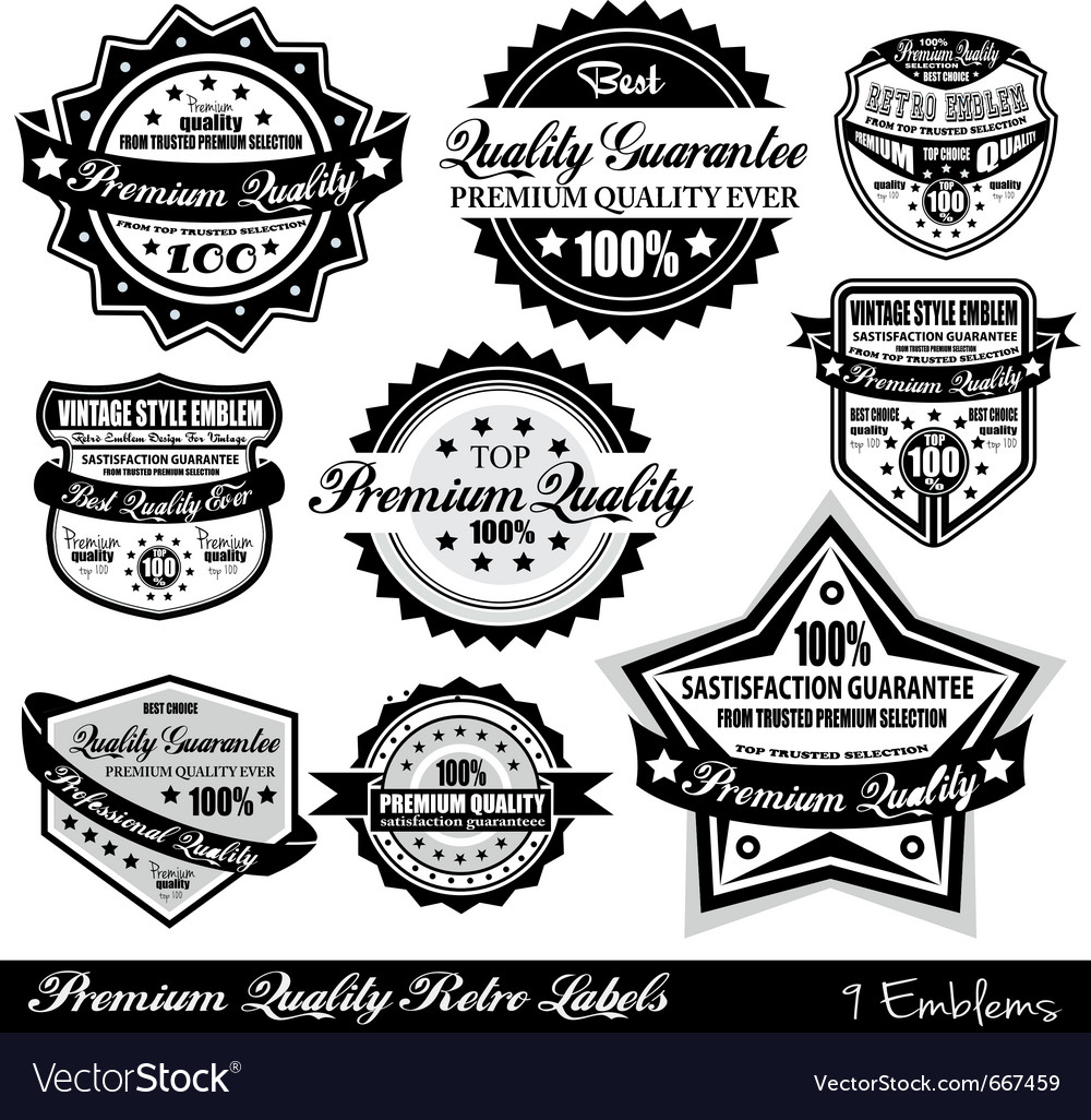 Quality retro labels