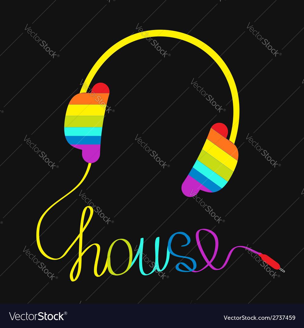 e61af67034dc2 Rainbow headphones with cord house Music