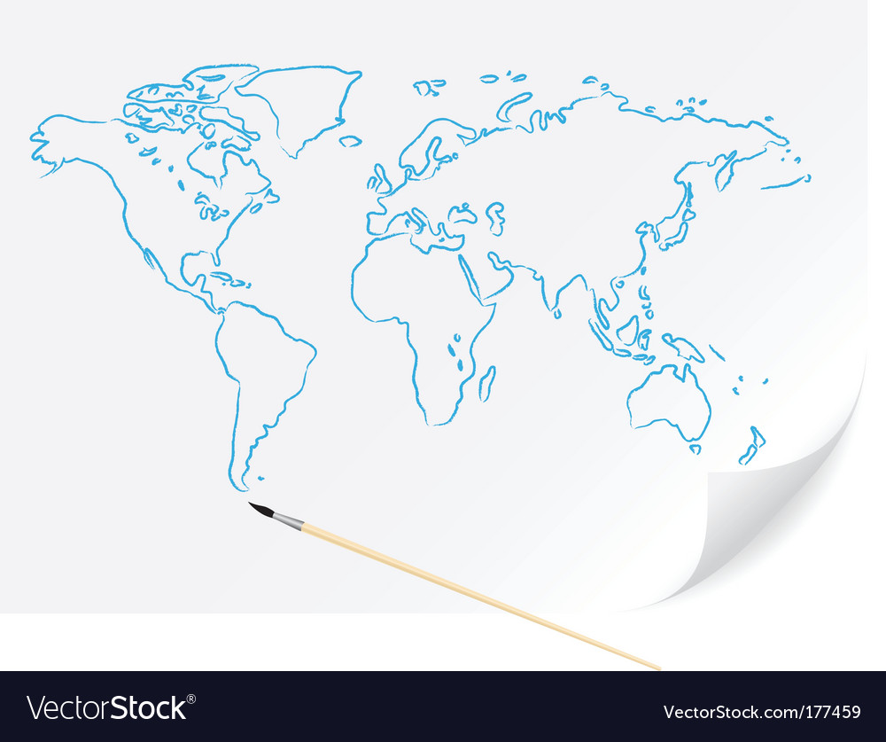 World map sketch royalty free vector image vectorstock world map sketch vector image gumiabroncs Image collections