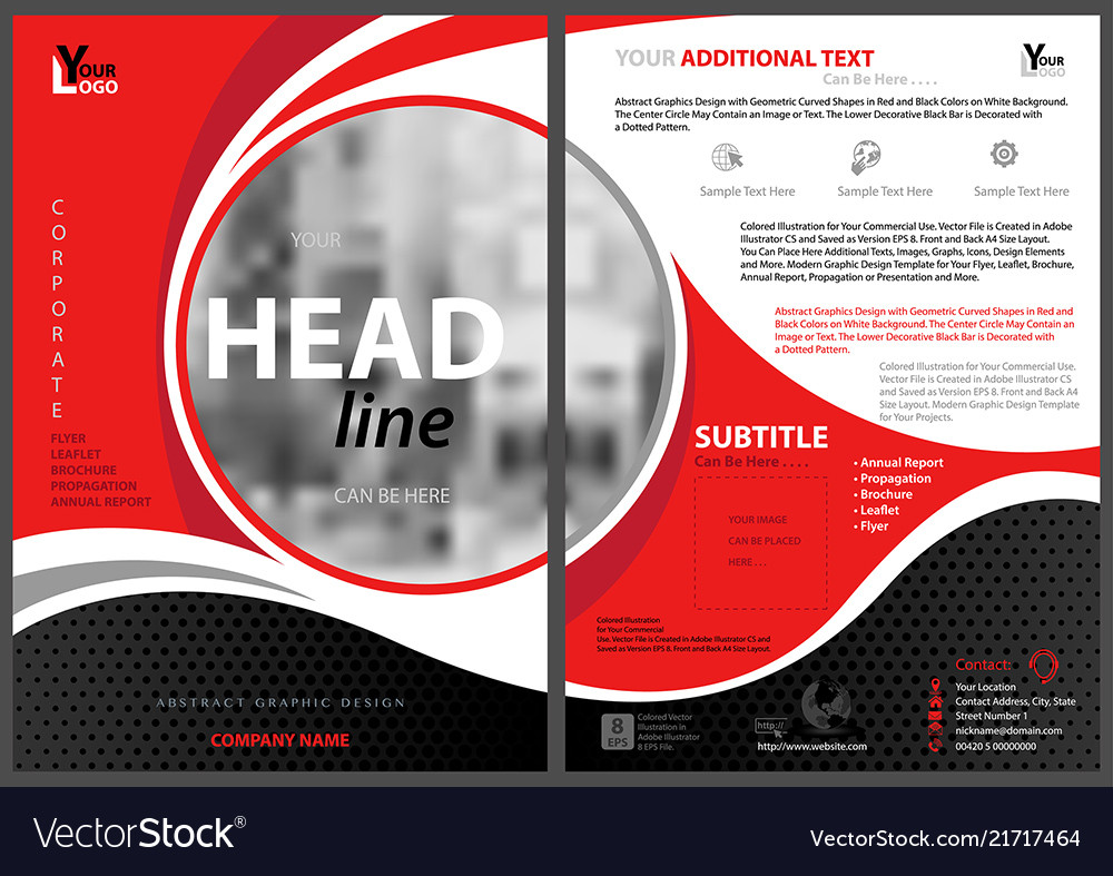 abstract modern flyer template royalty free vector image