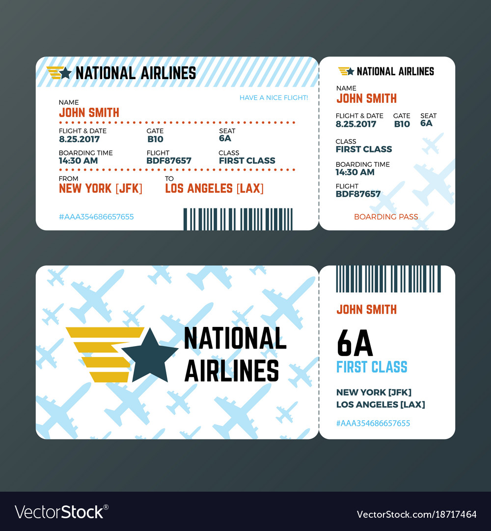 Airplane flight boarding pass ticket isolated