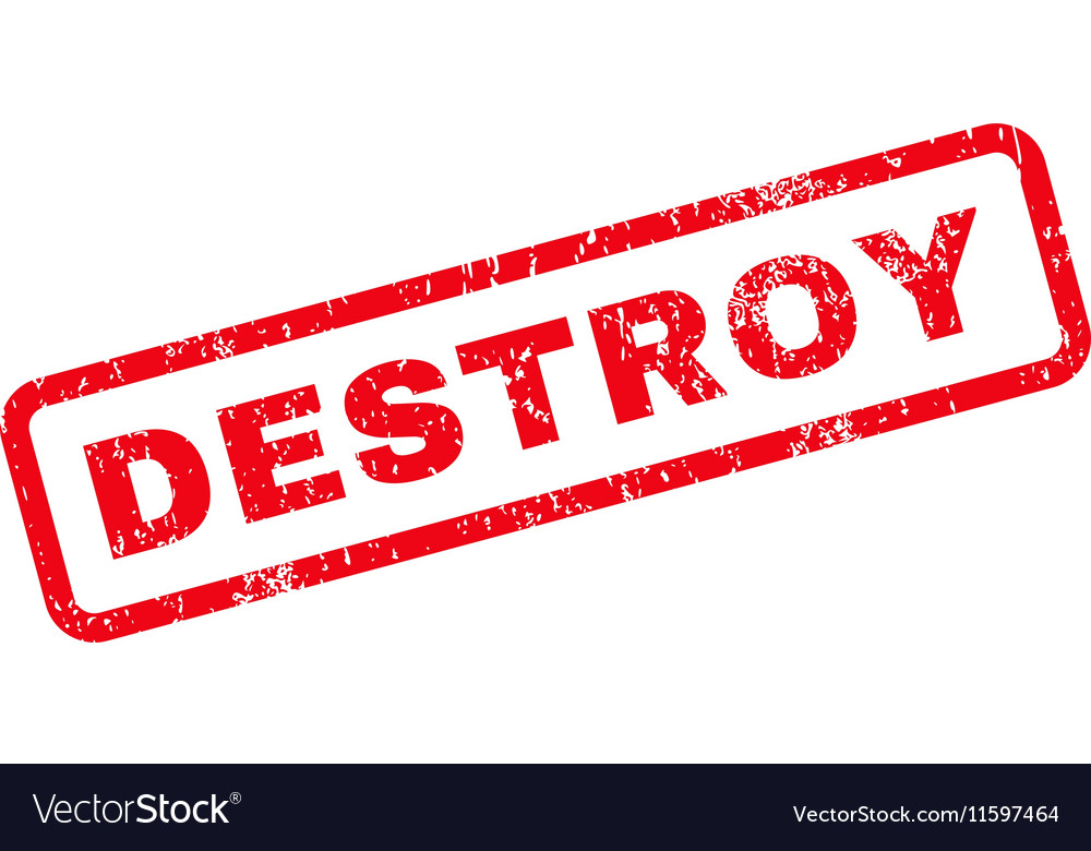 Destroy Text Rubber Stamp vector image