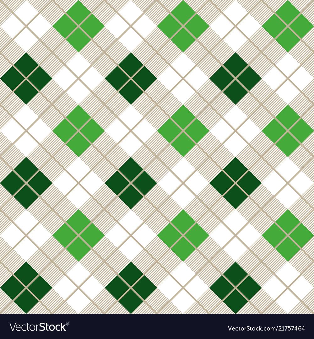 Green argyle harlequin seamless pattern