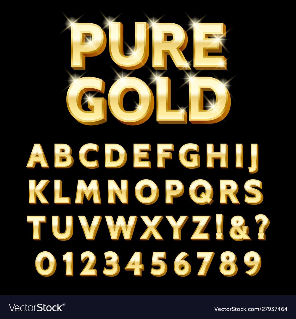 Luxury gold type