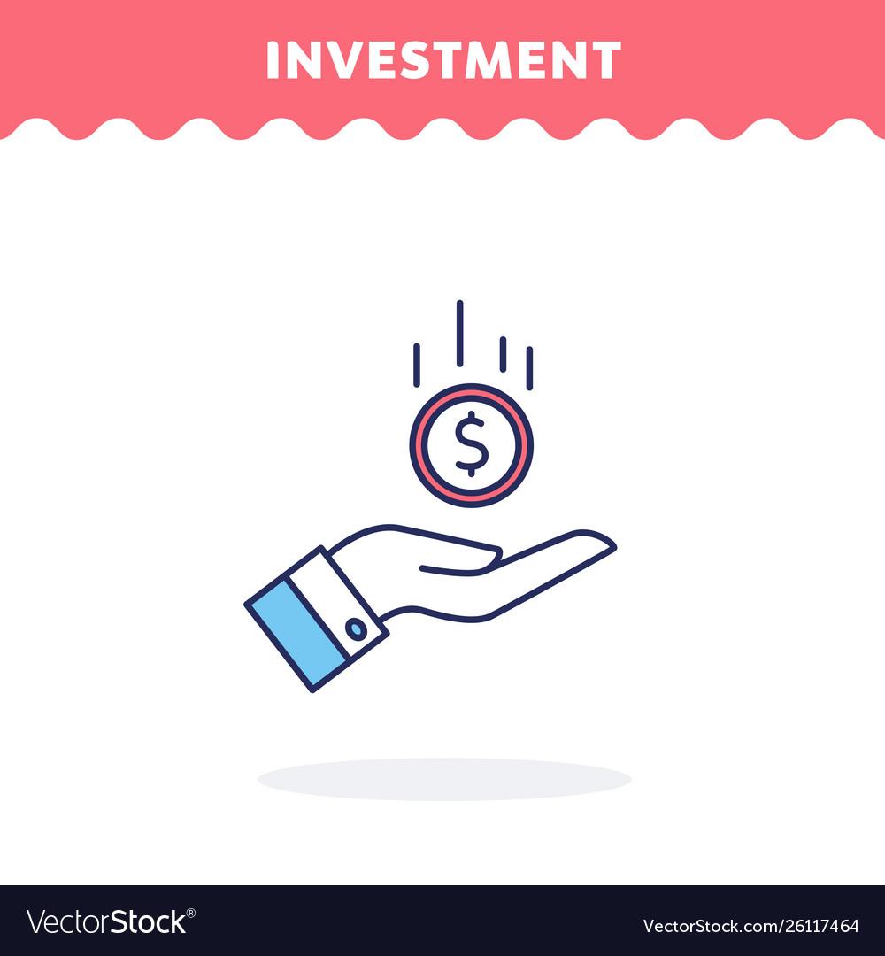 Money in hand icon flat design ui icon